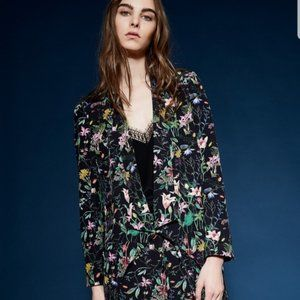 The Kooples Fluid Botanic Flower Blazer Jacket